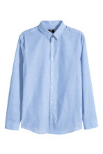 Easy-iron shirt Slim fit - Blue/Chambray - Men | H&M GB 2